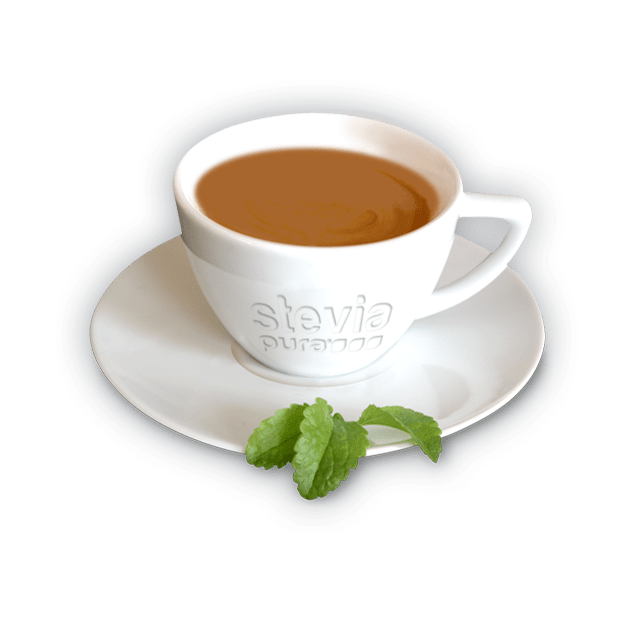 Stevia as a sweetener for coffee.