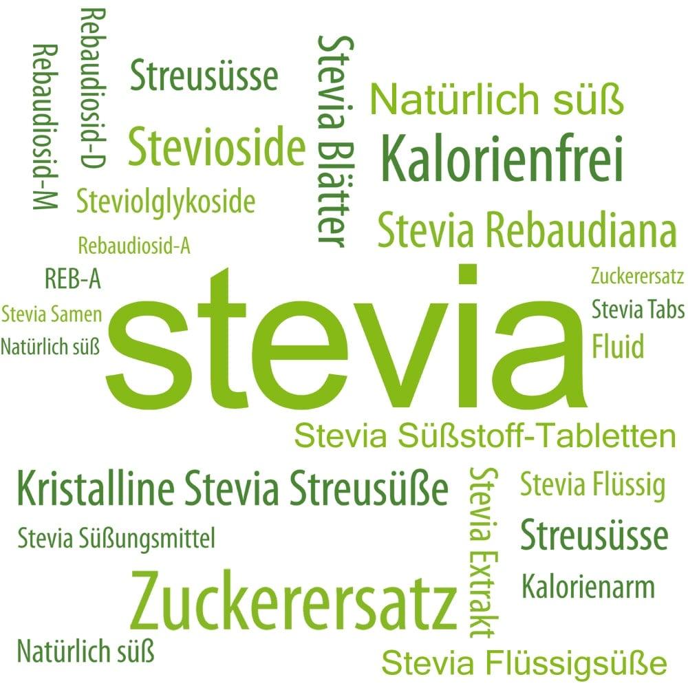 Stevia als Zuckerersatz und Süßungsmittel.